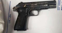 ام الفحم ,, اعتقال مشتبه بحيازة مسدس وذخيرة