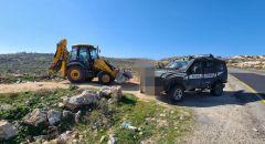 ضبط فتى(12 عامًا) يقود جرافة في منطقة غوش عتسيون قرب القدس