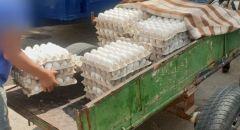 مصادرة نحو 2500 بيضة فاسدة في كفرقاسم وتوقيف قاصرين من الضفة