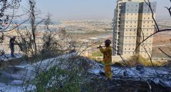 """حيفا: اندلاع حريق بمنطقة أشواك قرب شارع """"الجليل"""""""