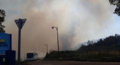 اندلاع حريق على شاطئ آمنون في بحيرة طبريا وإخلاء المستجمين