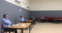 مندوبو الهيئة العربية للطوارئ يجتمعون مع غرفة الطوارئ في قرية مجدالكروم