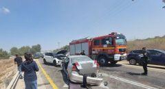 اصابة 5 أشخاص بينهم ثلاثة بحالة خطيرة بحادث طرق مروع في منطقة القدس
