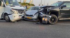 حادث طرق بالقرب من يافة الناصرة واصابة 5 اشخاص