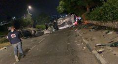 اصابة شخصين بحادث طرق في الناصرة