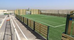 مجلس محلي كفرقرع ينهي اعمال بناء ملعب كرة قدم(سنتيتي)