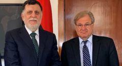واشنطن: السفير الأمريكي اتفق مع السراج على ضرورة التركيز على حل منزوع السلاح وسط ليبيا