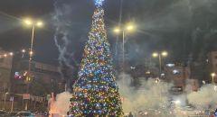 الاحتفال بإضاءة شجرة الميلاد في يافة الناصرة