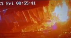 نحف: مجهولون يقومون بحرق محطة جمع النفايات