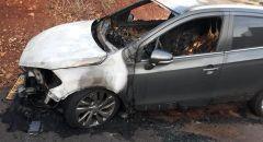 سخنين : اشتعال النار بسيارة المحامي والناشط السياسي محمد عوض أبو ريا