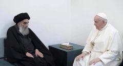 بابا الفاتيكان في العراق ويلتقي بالمرجع الشيعي العراقي علي السيستاني في النجف