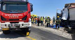 الجنوب: تخليص عالق جراء حادث طرق على شارع 25 قرب مصنع روتم