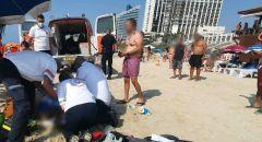 عمليات انعاش لرجل اثر تعرضه للغرق بشاطئ في هرتسليا