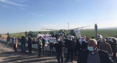 مواجهات مع الشرطة واعتقالات في النقب بعد تجريف اراضي ومحاصيل زراعية