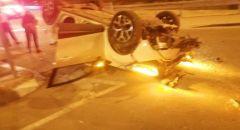 مصرع مسن(86 عاما) جراء انقلاب سياره على شارع 241