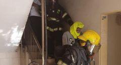 تخليص ٤ عالقين جراء حريق شب في شقة سكنية بمدينة اللد