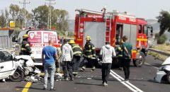 حادث طرق بين 3 سيارات على شارع 71 واصابة بين المتوسطة والخطيرة