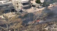 ديرحنا : حريق كبير يمتد باتجاه موقف للباصات وللمنازل