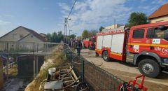 بيت حنينا- القدس: تخليص ٤ عالقين جراء حريق شب في شقة سكنية
