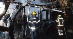 اندلاع حريق داخل كوخ خشبي للضيافة ( تسيمر) في يركا