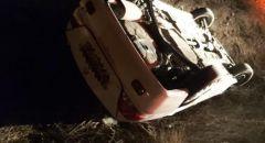كفرقرع : اصابة شخص بجراح اثر انقلاب مركبة