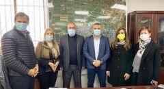النائب سندس صالح  و السعدي يزوران  جديدة المكر وبئر المكسور