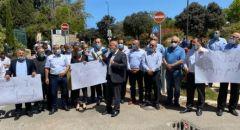 رؤوساء المجالس المحلية تتظاهر في القدس
