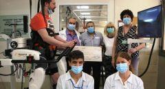 نظام روبوتي جديد يساعد في التدريب على المشي  في المركز الطبّي لإعادة التأهيل - ليفينشطاين