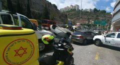 القدس : إصابة متوسطة لسائق دراجة نارية بحادث