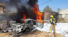 تل السبع: اصابة شخصين اثر اندلاع حريق في صهريج سولار بأحد الأحياء