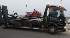 الشرطة : تحرير مخالفات ضد سائقي الدراجات النارية والسيارات محسنة بطرق غير قانونية في المجتمع العربي