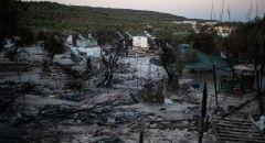 حريق جديد يهدد مخيما للاجئين في جزيرة ساموس اليونانية