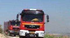 اندلاع حريق في منطقة عسكرية في غور الأردن