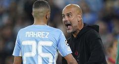 غوارديولا يصرخ وينفعل في وجه الجزائري محرز