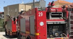 الناصره : اندلاع حريق بكراج للسيارات في حي الصفافره