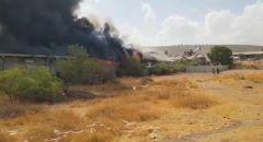 حريق كبير في مصنع للبلاستيك في ميشور أدوميم