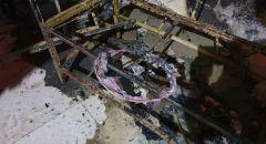 منطاد صغير يتسبب بحرق شرفة منزل في قلنسوة