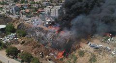 الرامة: اندلاع حريق كبير عند مدخل الحي الغربي