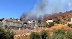 اندلاع حريق في منطقة أشواك في المغار