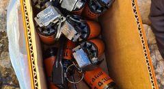 قرية نحف: ضبط 12 قنبلة هلع وذخيرة