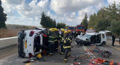 3 إصابات متفاوتة بينها حرجة جراء حادث طرق على مفرق أورن طريق حيفا