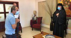 بروفيسور جامزو وأيمن سيف يزوران مطرانية الروم الملكيين الكاثوليك- حيفا