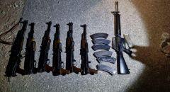احباط تهريب 6 بنادق كلاشينكوف وواحدة M16 من الحدود الأردنية الى إسرائيل واعتقال شاب من شقيب السلام
