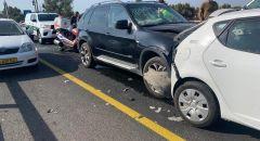3 اصابات متفاوتة اثر حادث طرق وقع بالقرب من تقاطع بن شيمن