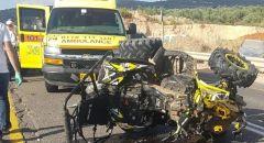 حادث طرق بين عيلبون والمغار واصابة شابين
