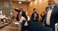 مواجهة بين النائب أسامة السعدي وإيتمار بن چڤير في الكنيست خلال التصويت على مقترح تمديد قانون منع لم الشمل