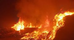 باقه الغربيه: اشعال النيران في مكب نفايات