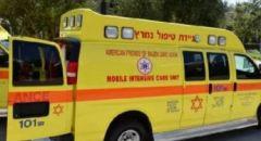 اصابة شابين بجراح متفاوتة في حادث طرق قرب اللقية