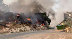 اندلاع حريق بمنطقة أشواك في عرابة