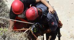 """تخليص شاب علق على تلة صخرية في شاطئ """"أرجمان"""" بمدينة نتانيا"""